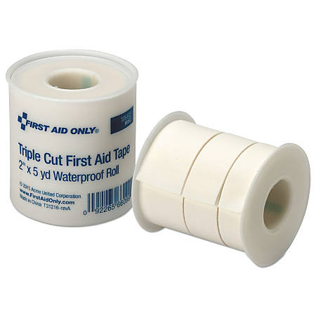 "First Aid Only TripleCut Adhesive Tape Refill For SmartCompliance General Business Cabinets, 2"" x 5 Yd. Roll"