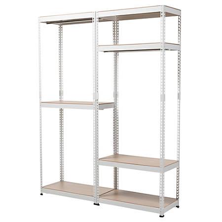 Baxton Studio Arne 7-Shelf Racking Organizer, White