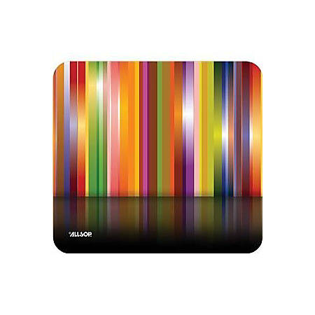 Allsop Naturesmart Mousepad, Tech Multi Stripes