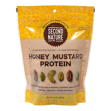 Second Nature Protein Nut Mix, Honey Mustard, 10 Oz, Pack Of 2 Bags