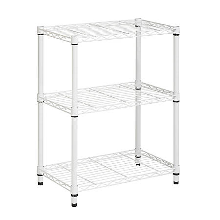 Honey-Can-Do SHF-01904 3-Tier Steel Urban Adjustable Storage Shelving Unit, White
