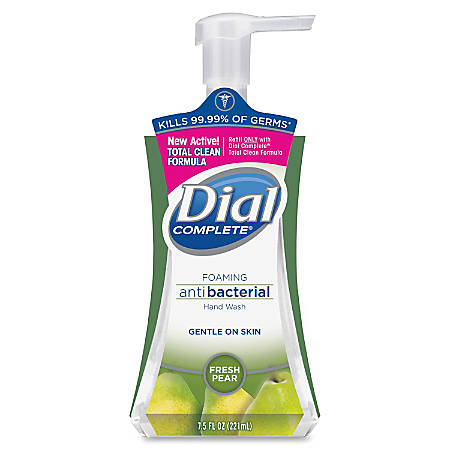 Dial Complete Foaming Hand Wash - Fresh Pear Scent - 7.5 fl oz (221.8 mL) - Pump Bottle Dispenser - Kill Germs - Hand - Hypoallergenic, Anti-bacterial - 8 / Carton