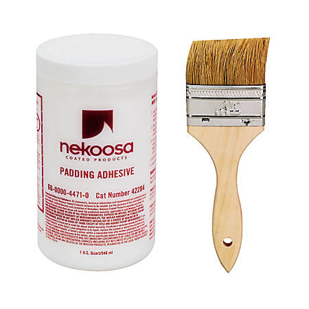 Nekoosa Fan-out Padding Adhesive - 1 quart - 1 Each - White