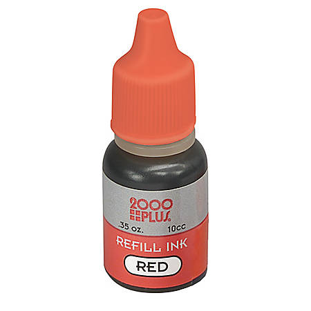 Stamp Pad Ink, Red (AbilityOne 7510-01-207-3960)