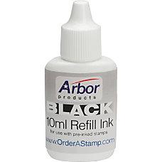Stamp Pad Ink Black AbilityOne 7510