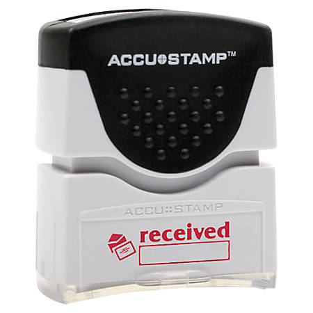 Accu-Stamp Pre-Inked Message Stamp, Received, Red (AbilityOne 7520-01-207-4231)