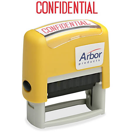 Accu-Stamp Pre-Inked Message Stamp, Confidential, Red (AbilityOne 7520-01-419-5949)