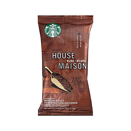 Starbucks House Blend Ground Coffee Packets, Box Of 18 Packets