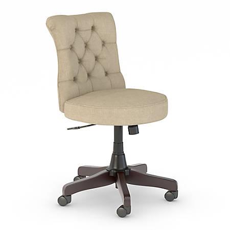 Bush Business Furniture Arden Lane Mid-Back Tufted Office Chair, Tan, Premium Installation