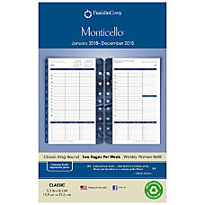 FranklinCovey Monticello Appointment Book Refill 5