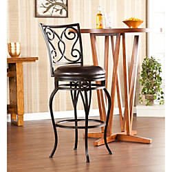 Southern Enterprises Hanover Swiveling Bar Stool