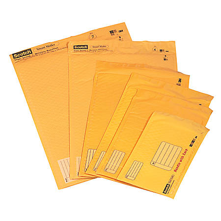 """Scotch® Cushioned Mailer, #5, 10 1/2"""" x 15"""", Assorted Colors (No Color Choice)"""
