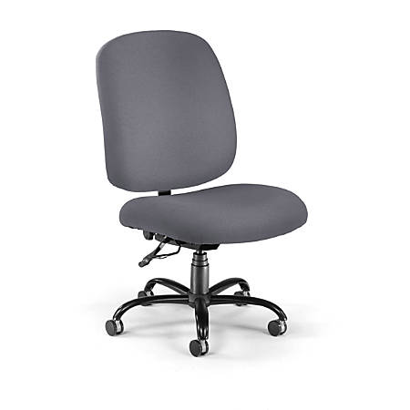 OFM Big & Tall Fabric High-Back Task Chair With Arms, Gray/Black