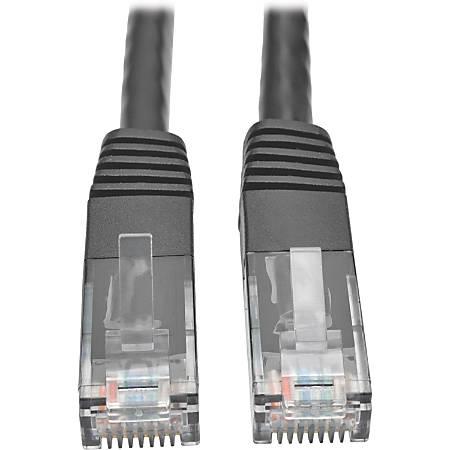 Tripp Lite Cat6 Gigabit Molded Patch Cable RJ45 M/M 550MHz 24 AWG Black 1'