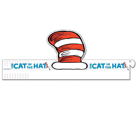 Eureka® Dr. Seuss™ Cat's Hat Wearable Cut-Out Hats, Grades PreK-6, Pack Of 32