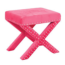 Office Star Accents Katie Bench Pink