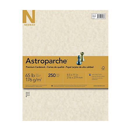 "Astroparche® Specialty Cover Stock, 8 1/2"" x 11"", 65 Lb, 30% Recycled, Astroparche Natural, Pack Of 250 Sheets"