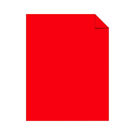 "Astrobrights® Color Card Stock, 8 1/2"" x 11"", FSC® Certified, 30% Recycled, 65 Lb, Re-Entry Red, Pack Of 250"