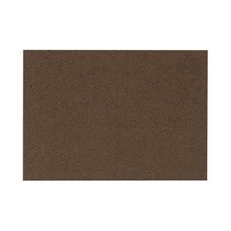 """LUX Flat Cards, A2, 4 1/4"""" x 5 1/2"""", Chocolate Brown, Pack Of 50"""