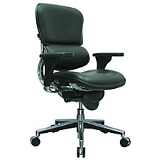Eurotech Ergohuman Mid Back Leather Chair