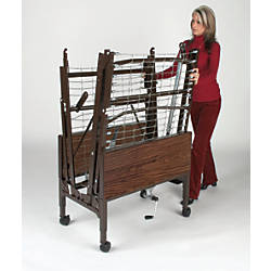 Medline Homecare Bed Transport Cart Brown
