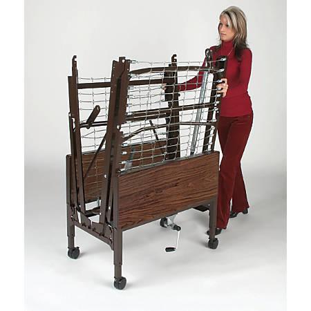 Medline Homecare Bed Transport Cart, Brown