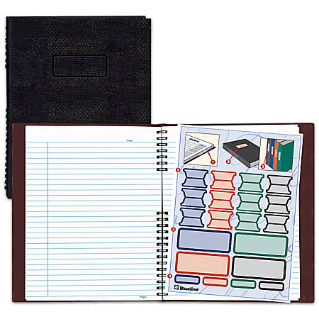 "Blueline® NotePro™ 50% Recycled Notebook, 8 1/2"" x 11"", College Ruled, 100 Sheets, Lizard-Like Red"