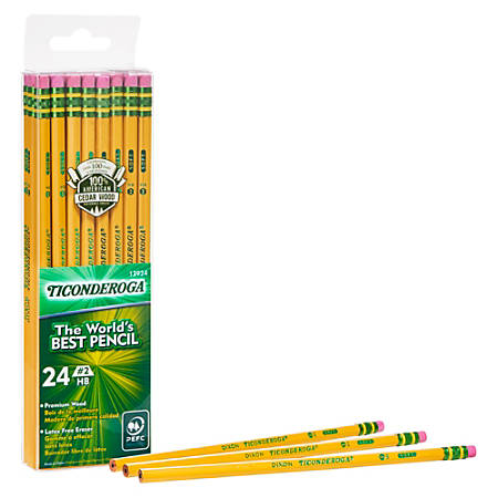 Dixon® Ticonderoga® Pencils, #2 Medium Soft Lead, Box Of 24 Pencils