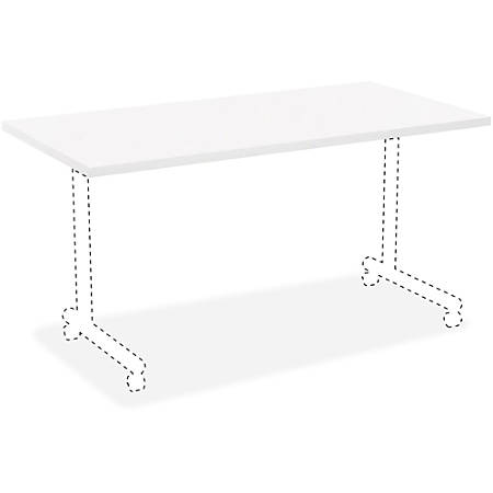 """Lorell® Rectangular Invent Training Table Top, 72""""W, White"""