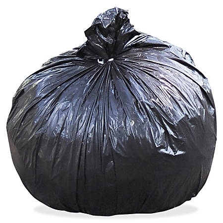 """Stout Total Recycled Content Trash Bags, 1.5-mil, 55 - 60 Gallons, 38"""" x 60"""", 100% Recycled, Brown, Carton Of 100"""