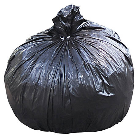 """Stout Total Recycled Content Trash Bags, 1.5-mil, 65 Gallons, 50"""" x 51"""", 100% Recycled, Brown, Carton Of 100"""