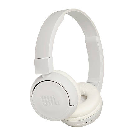 JBL On-Ear Wireless Headphones With Microphone And Detachable Cable, White, JBLT450BTWHT