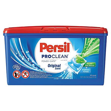 Persil ProClean Power-Caps Detergent Capsules, Original Scent, Box Of 40 Capsules