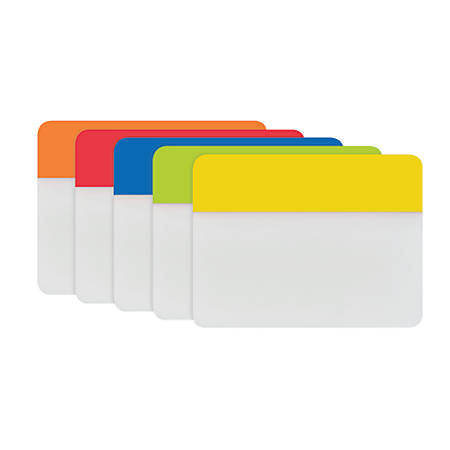 "Post-it® Durable Tabs, 2"", World Rio, 6 Tabs Per Pad, Pack Of 5 Pads"