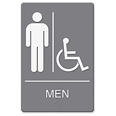 Headline US Stamp Sign MenWheelchair Image