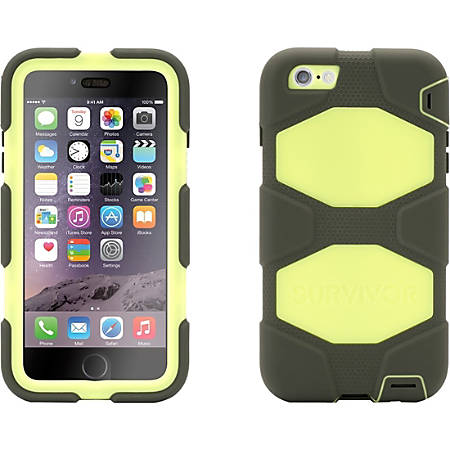 Griffin Survivor Carrying Case iPhone - Olive, Lime, Gray