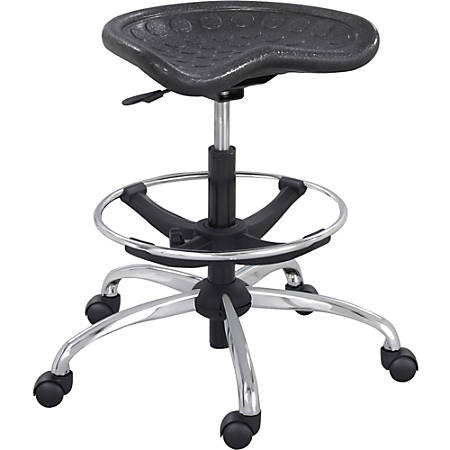 Safco® SitStar™ Stool, Black/Chrome
