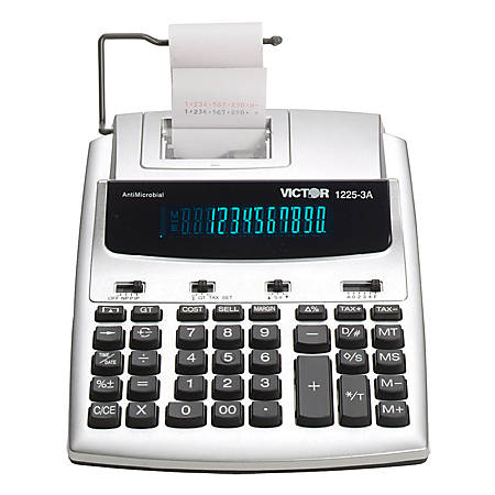 Victor® 1225-3A Antimicrobial Commercial Printing Calculator