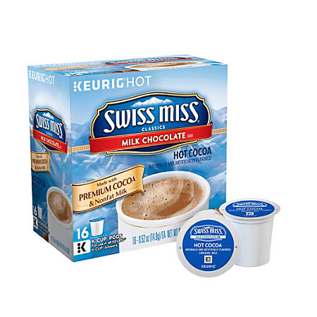 Swiss Miss Hot Cocoa K-Cups, 0.53 Oz., Box Of 16