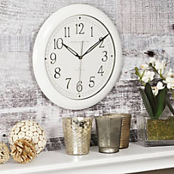 FirsTime Slim Classic Round Wall Clock