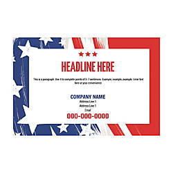 Office Depot Templates | Poster Templates Horizontal Grunge Textured Flag By Office Depot