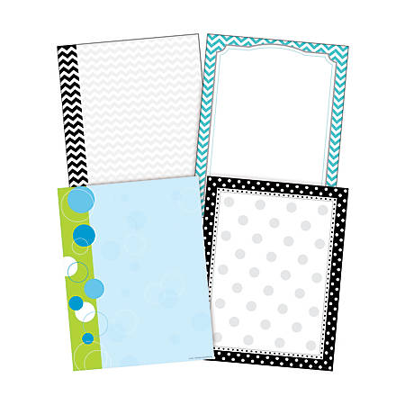 "Barker Creek Paper Set, 8 1/2"" x 11"", Chevron & Dots, Pack Of 200 Sheets"
