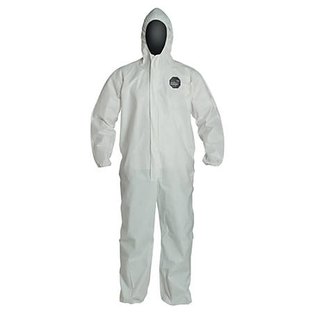 DuPont ProShield NexGen Coveralls With Attached Hood, 3X, White, Pack Of 25 Coveralls