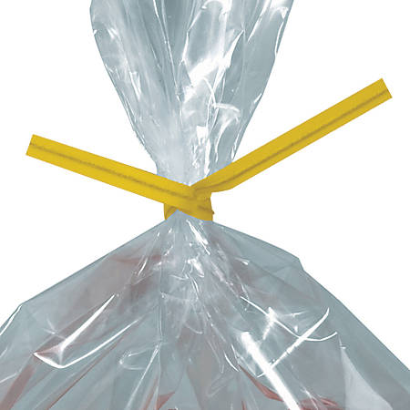 """Office Depot® Brand Twist Ties, Paper, 4"""" x 3/16"""", Yellow, Pack Of 2,000"""