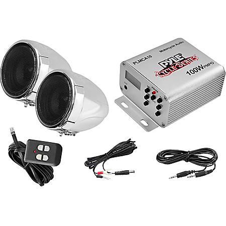 Pyle Cycle Series 100W Handlebar-Mount Weather-Resistant Speaker System, PLMCA10