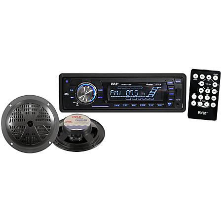 Pyle PLMRKT12BK Marine Flash Audio Player - iPod/iPhone Compatible - Single DIN