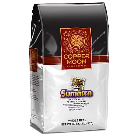 Copper Moon Coffee Whole Bean Coffee, Sumatra, 2 Lb Per Bag, Case Of 4 Bags