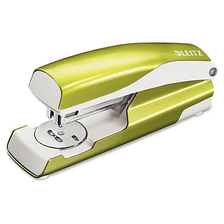 """Leitz NeXXt Series WOW Desktop Stapler - 40 Sheets Capacity - Full Strip - 5/16"""" Staple Size - Green"""