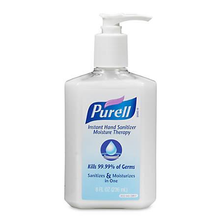 Purell® Instant Hand Sanitizer Moisture Therapy, 8 Oz Pump Bottle