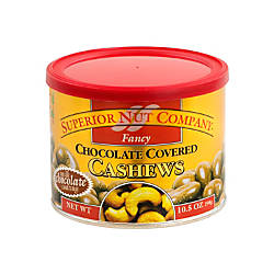 Superior Nut Fancy Chocolate Covered Cashews